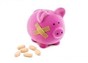 Poorly piggy bank